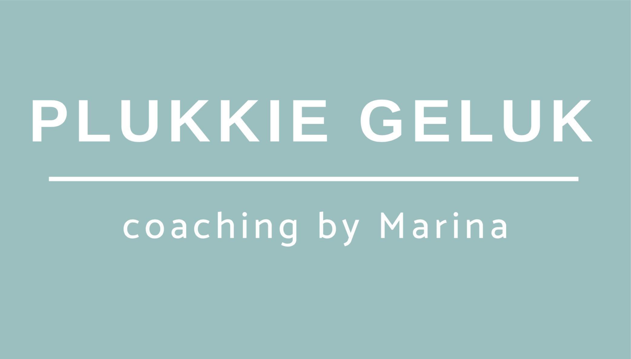 Plukkie Geluk coaching by Marina