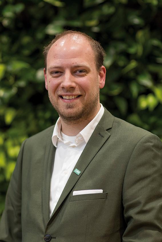 Fractievoorzitter Benjamin Hofland, D66 Westland