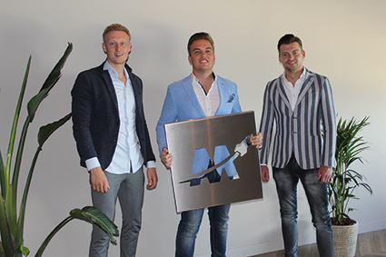 NIEUWE LEDEN: Dean van der Klaauw, Jessy  Greeve en Boy van Niel van Maximizd